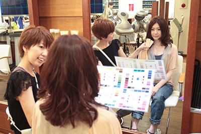 Beginhairさんの取材写真札幌市